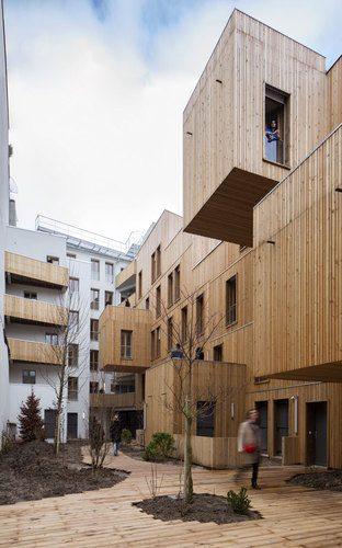 3. Te¦éte en l'air Social Housing GÇô Paris, France